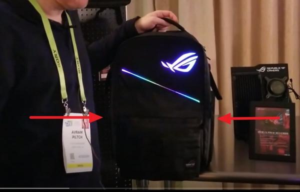敗家無極限!會場驚見 ROG Ranger BP3703後背包,RGB上肩、還有讓敗家之眼在身後閃閃發光