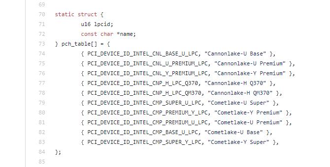 Comet Lake Y、Comet Lake U 將有新款晶片組與之�配