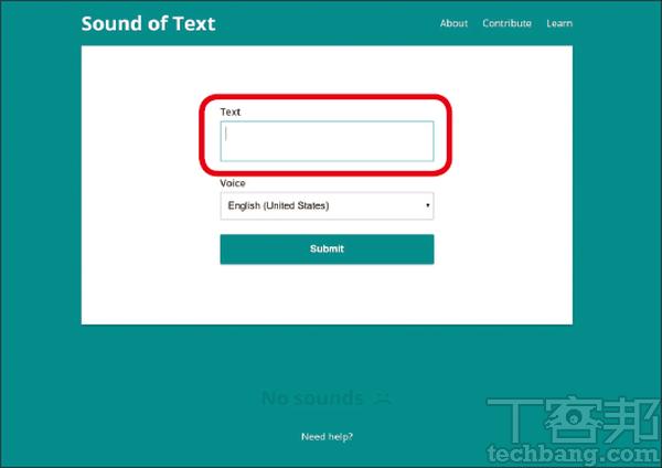 1.進入網頁,在文�框的地方輸入或貼上你要的文句。