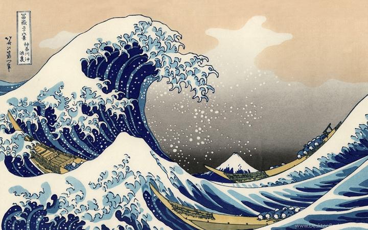 名畫《神奈川衝浪裏》
