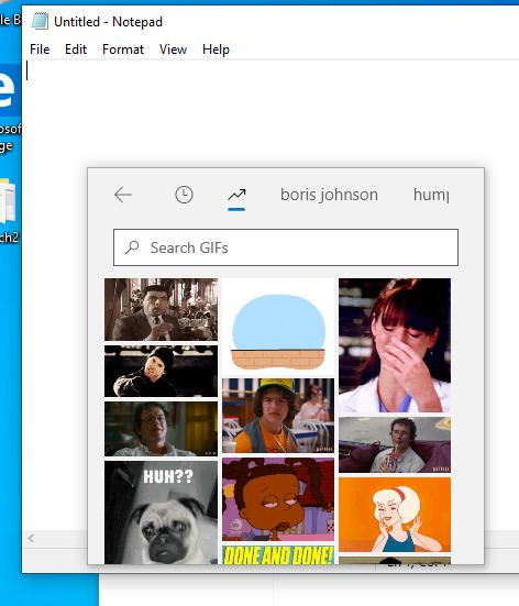�版本�也多了一個 GIF 搜尋功能。