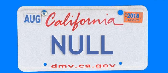 美國一位宅宅工程師將車牌申請為「NULL」,結果全國辨�不清的違規罰單全找到了一個家