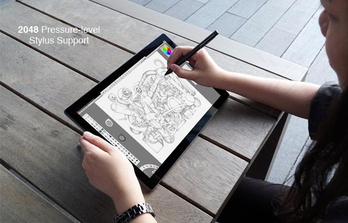 對繪圖有需求的使用者可以�配2048段感壓手寫�揮灑創意。