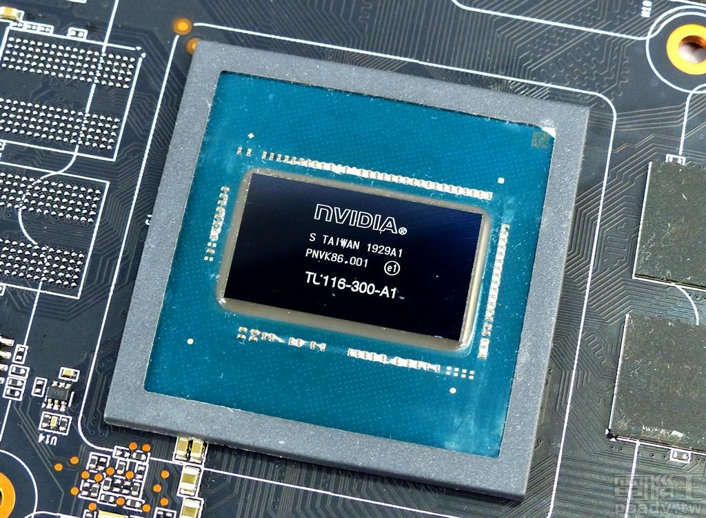 ▲ TU116 顯示繪圖晶片。