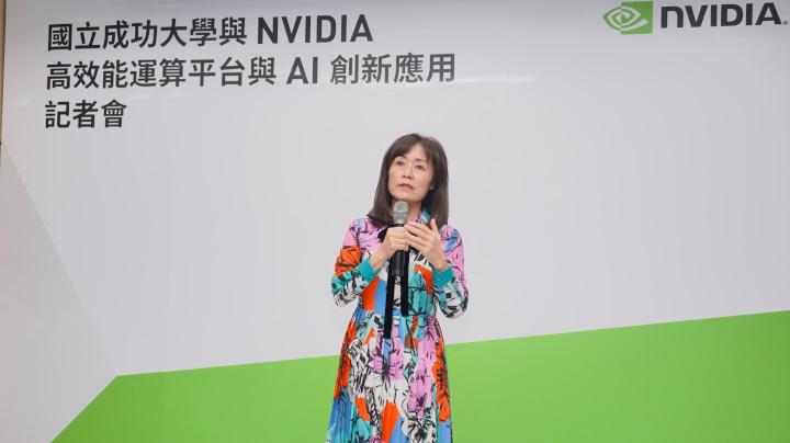 成功大學校長蘇慧貞對於AI教育著力甚深。