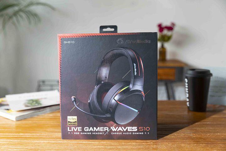 圓剛推出 Live Gamer WAVES 510(GH510)7.1 環繞音效電競耳機。