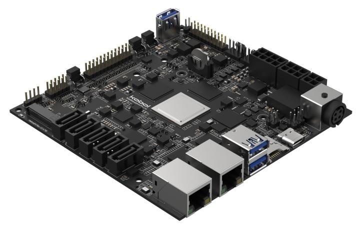 Helios64提供5組SATA端�與1組M.2插槽。