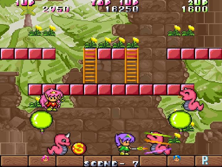 除了樓梯外,關卡�還有氣球�特殊機關可以協助玩家移動到更高的地方。
