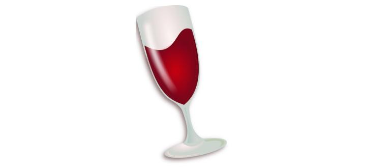 Wine的名稱源自「Wine Is Not an Emulator」(Wine不是模擬器),也�好是紅酒的意思,因�以紅酒作為標誌。