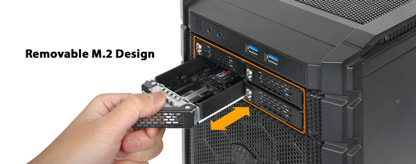 ICY DOCK 近日推出 ToughArmor MB720M2K-B 全金屬 4 槽位 5.25 吋抽取盒,無須螺絲即可安裝 4 個 M.2 NVMe SSD,單槽支援 32Gb/s 傳輸速度。