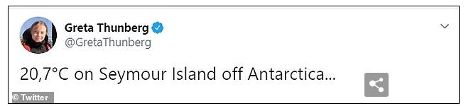 這則新聞還引起了氣候專家 Great Thunberg 關注,他在本周四(13日),更於個人 Twitter 上發表了一則南極高溫紀錄的貼文,可見對氣候異常現象感到憂心。