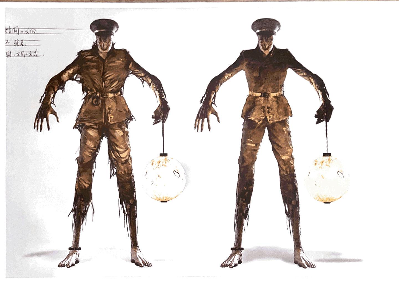 《返校》電影�「鬼差」的人物造型�定,這也是�憲聰與導演腦力激盪之後的成果。