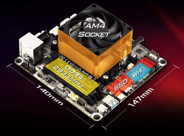 主機板的�計也很接近,皆僅支援高度4.6公分以下的處理器散熱器。