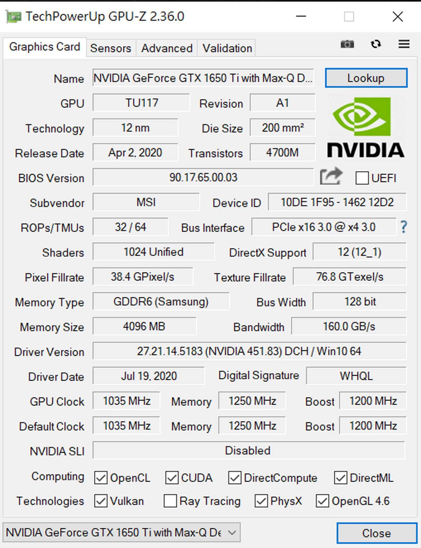 透過 HWiNFO64 查看 MSI Summit E15 的處理器與整合顯卡的詳細參數。