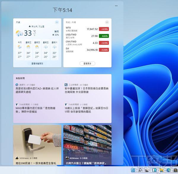 Windows 11微軟把整個螢幕左邊的空間,交給全新推出的小工具功能,現時內容豐富度雖有待加強,但確實是個相當具備潛力的應用。