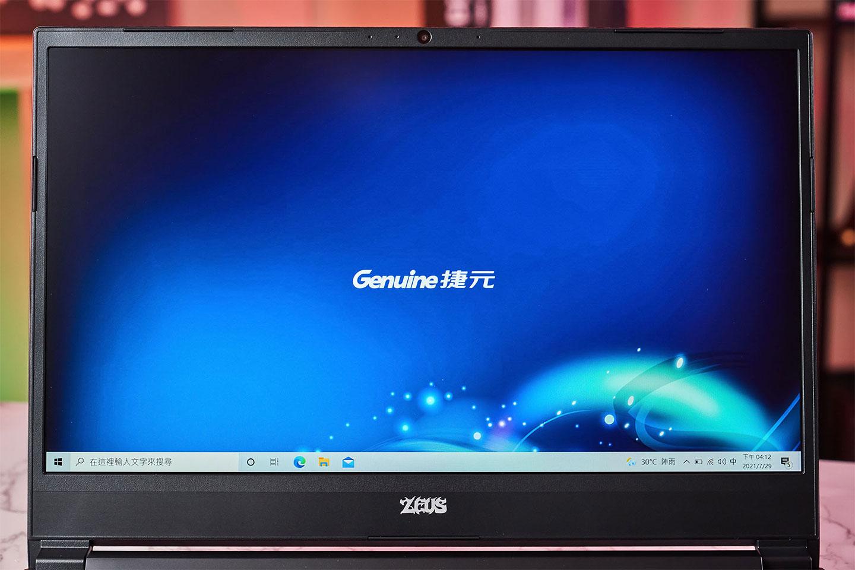Genuine 捷元 ZEUS 15H 的螢幕採用 Full HD 解析度的 IPS 等級面板,並支援 144 Hz 更新率的電競級面板,在運行遊戲時能有更為流暢的視覺效果。