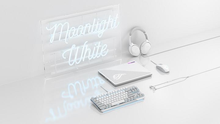就是愛白色!ROG 四款熱賣電競周邊推出「月光系列」新品