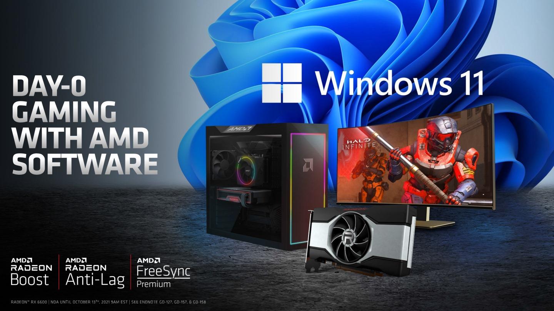 Radeon RX 6600的驅動程式與各項功能可以在上市首日支援Windows 11。